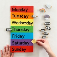 Days of The Week Peg Board