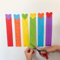 Easy Valentine's Scissor Skills for Kids
