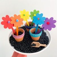 Easy spring flower craft and sensory play for kids