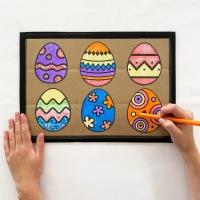 DIY Easter Erasable Coloring Board for Kids